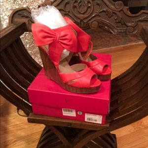EUC RED VALENTINO WEDGES SIZE 41 (11)